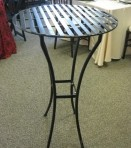 Cocktail Table, Black Metal