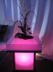 Light Up End Table, Pink