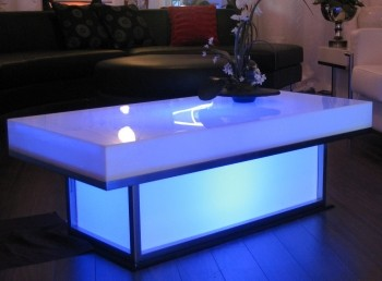 Las Vegas Light Up Coffee Table Blue