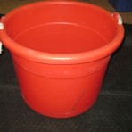 Beverage Tub, Red Plastic