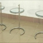 Side Tables, Plexiglass with Metal Frame
