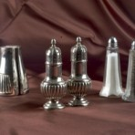 Salt & Pepper Shaker, Silver and Glass