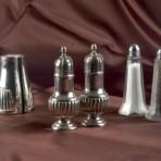 Salt & Pepper Shaker, Silver and Glass