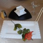 Sushi Plate, White & Triangle Plate, Black