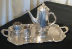 Tea Service with Tray, Silver