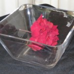 Glass Serving Bowl, Square Clear