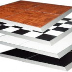Dance Floor, Oak, Checkered, White, and Black