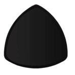Triangle Plate, Black