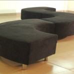 Serpentine Benches, Black