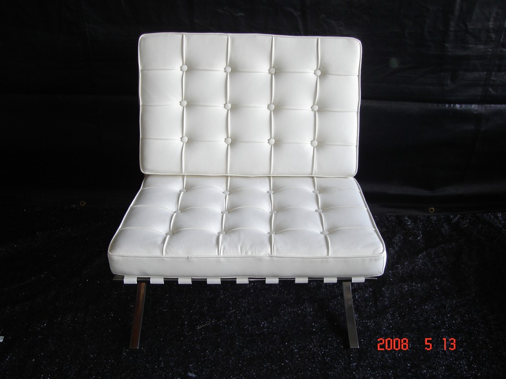 Barcelona Chair White barcelona chair, white