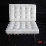 Barcelona Chair, White
