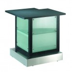 Frosted Glass Bar, 3′ Corner