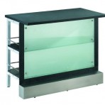 Frosted Glass Bar, 4′ Center