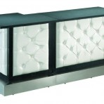 Leather Tufted Bar, 7′ Corner & Center