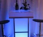 Light Up Cocktail Table, Blue