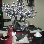 Black LED Bonsai Tree