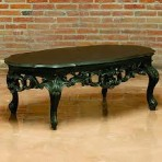 Baroque Coffee Table, Black