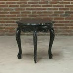 Baroque End Table, Black
