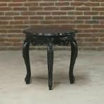 Baroque End Table, Black