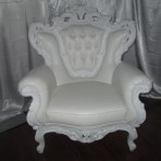Baroque King Chair, White