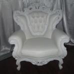 Baroque King Chair, White