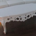 Baroque Coffee Table, White