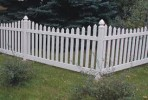White Picket Event Fence