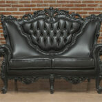 Baroque Loveseat, Black