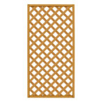 Lattice Screen, Natural Wood 4′X8′