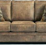 Rustic Brown Leather Sofa